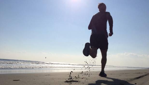 Courrir sur la plage