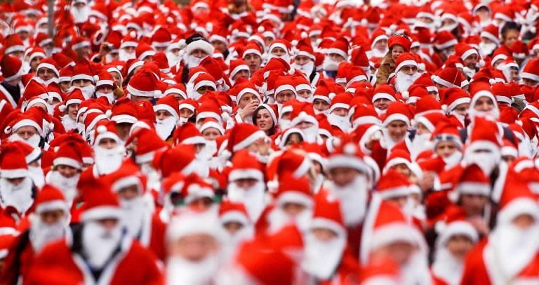 Santa run london run 4 cancer